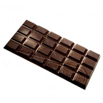 Polycarbonate Chocolate Bar Mold - 156x77x8 mm - 3 pcs - 93 gr - 156x77x8 mm