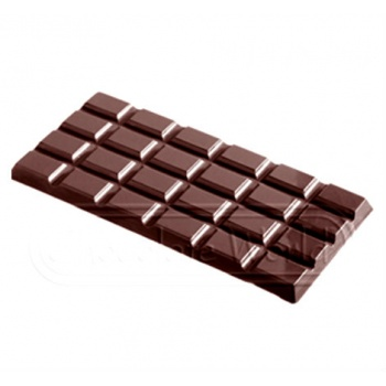 Polycarbonate Chocolate Bar Mold - 155x77x9 mm - 3 pcs - 108 gr - 275x175x24 mm