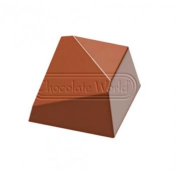 Polycarbonate Chocolate Mold Triangular Diamond by Davide Comaschi 38x32x22,50 mm - 18 Cavity - 10gr - 275x135x28 mm