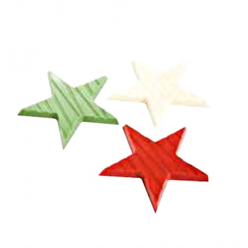 Polycarbonate Chocolate Mold Stars - 52x52x5 mm - 10 Cav - 4.5gr - 135x275x24mm
