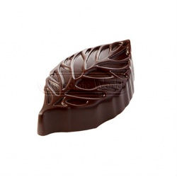 Polycarbonate Chocolate leave Mold by Ramon Huigsloot - 44.50x26x13.50 mm - 3x7 pc - 10 gr - 275x135x24 mm