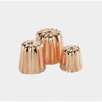 De Buyer Copper Caneles Bordelais Molds - Medium Caneles ø 1 3/4''