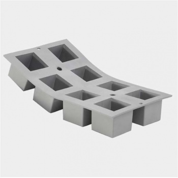 De Buyer Elastomoule Silicone Mold - Cubes 8 Cavity - 5x5x5 cm  - 30 x 17 cm