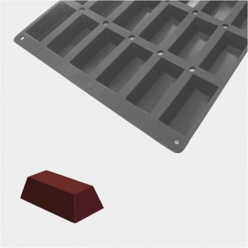De Buyer MOUL FLEX PRO Silicone Molds - Mini Rectangular Cakes - 10x5x3cm - 60cm x 40cm - 30 Cavity