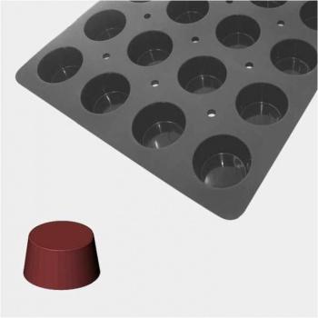 De Buyer MOUL FLEX PRO Silicone Molds - Muffins Cupcakes Molds - ? 7 cm x 4cm - 60cm x 40cm - 24 Cavity