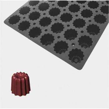 De Buyer MOUL FLEX PRO Silicone Molds - Small Caneles Molds ? 5.5cm x 5cm - 60cm x 40cm - 54 Cavity