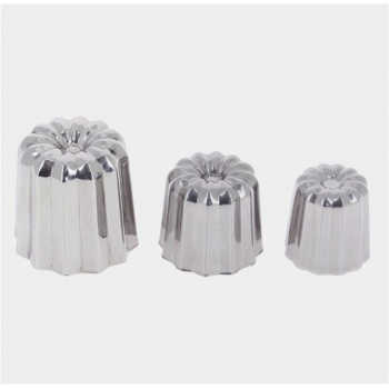 De Buyer Stainless Steel Caneles Bordelais Molds - Mini Caneles ø 1 1/3''