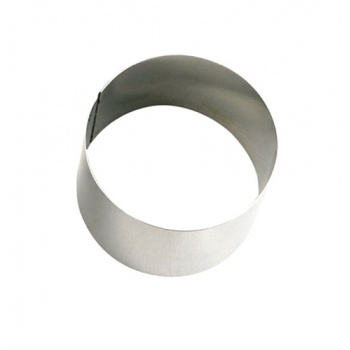De Buyer Stainless Steel Individual Entremet Round Ring - Ø 6 cm x 4.5 cm - Each