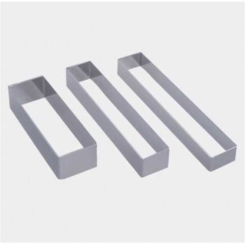 De Buyer Stainless Steel Long Rectangle Shape for Plate Dressing - 12 x 4.3 x 4 cm