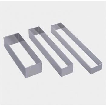 De Buyer Stainless Steel Long Rectangle Shape for Plate Dressing - 18 x 3.2 x 2 cm