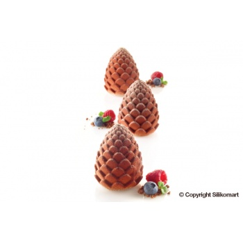 Silikomart Professional Pine Cone Mold - FORESTA 110 - 5 Cavity - Ø 60 - h 73 mm - 110 ml