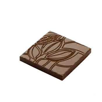 Polycarbonate Napolitain Cocoa Bean Chocolate Mold - 34.5x34.5x4.5mm - 4x7 pc - 4.5 gr -275x135x24mm