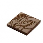 Polycarbonate Napolitain Cocoa Bean Chocolate Mold - 34x34x4 mm - 3x6 pc - 5 gr - 135x275x24mm