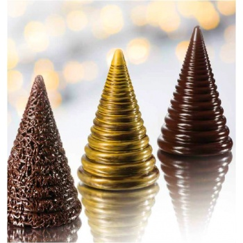 Thermoformed Spiral Christmas Tree - Ø112 h180 mm - 300gr - 4 Molds - 2pcs