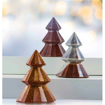 Thermoformed Facetes Christmas Tree - Ø95 h120 mm - 300gr - 4 Molds - 4pcs