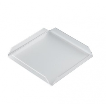 Clear Square Polycarbonate Display Tray for Chocolates - 17 x 17 x 2cm