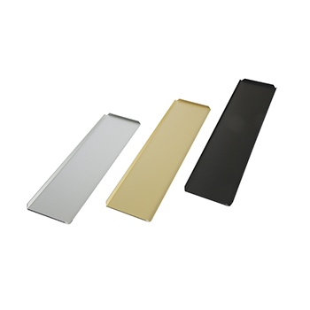 Black Long Rectangle Plastic Display Tray for Chocolates - 100 x 500 mm
