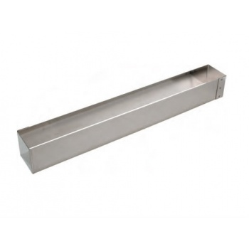 Stainless Steel Square Long Frame for Logs - 57 x 7 x 7 cm
