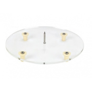 Plexiglass Clear Base with Central Pick and 4 feet - 10 mm thick -  ø 40 cm