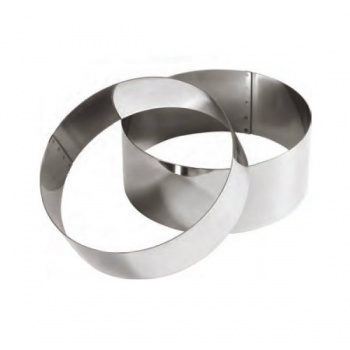 Special Wedding Cake Stainless Steel High Cake Ring - 8 cm High - Ø 26 cm -
