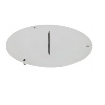 Stainless Steel Cake Base with Central Pick  -  ø 32 cm