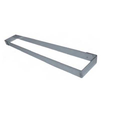 Stainless Steel Long Rectangle Cake Frame 57 x 9 x 4.5cm