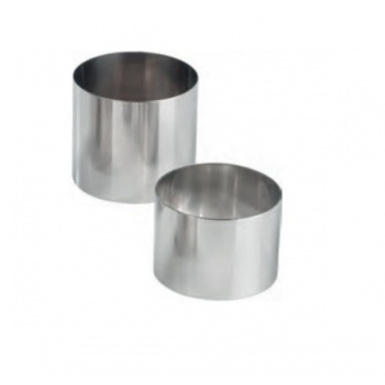 Stainless Steel Round Individual Pastry Ring - Ø 6.5 cm x 5cm - set of 6