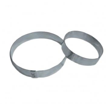 Stainless Steel Round Tart Ring ø 8 cm - 1.6 cm High - Pack of 6