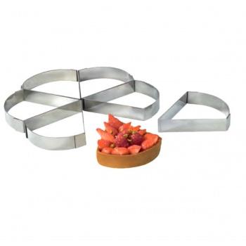 Stainless Steel Triangular Tart Ring - 12 cm x 10 cm x 2 cm