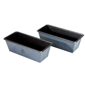 Matfer Bourgeat Exopan Steel Non-Stick Flared Cake Pan Mold - 6 1/3'' x 2 1/2'' x 2 1/3''