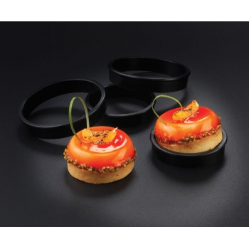 "Matfer Bourgeat Exoglass® Tart Rings - Ø 4"", Height 10/13"" - Pack of 6"