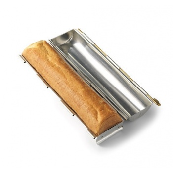 "Matfer Bourgeat Stainless Steel Small Round Bread Pan Ø 1 3/4"" x 11 3/4''"