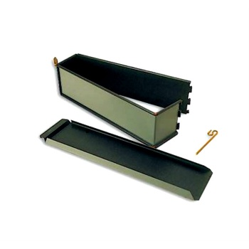 "Matfer Bourgeat EXOPAN® Steel Non-Stick Plain Pate Pie Mold - L 13 3/4""x W 3""x H 3 1/3""- 1 lb. 12 oz."