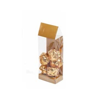 Deluxe Confectionnery Display Bags - 55 x 35 x 180 mm - Mat Galaxy Gold