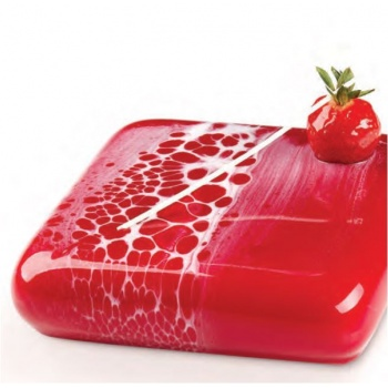 Pavoni Silicone Entremets Mold - MARS - 165 x 165 x 40 mm - Vol: 1 000 ml