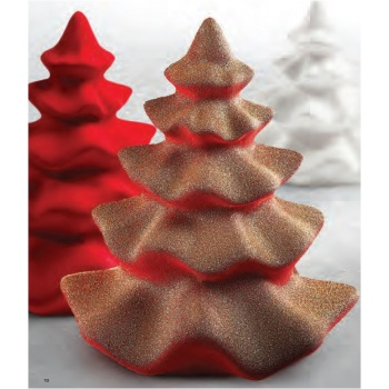 Pavoni Thermoformed Mold - TUTU - Christmas Trees Ø 170x 200mm H - Weight: 320 g - 2 sets
