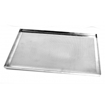 Stainless Steel Perforated Full Size Sheet Pan - Straight Edges - 600 x 400 mm