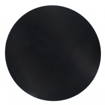 6'' Black Round Cake Board - 50 pack