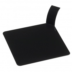 Palet Black Plastic Square Monoportion Tray 3.1'' - PS32251 - PS - 1000ct