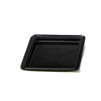 Square Individual Plastic Pastry Plate - Black - Int. 68x68 mm - Ext. 86x86mm - Pack of 200