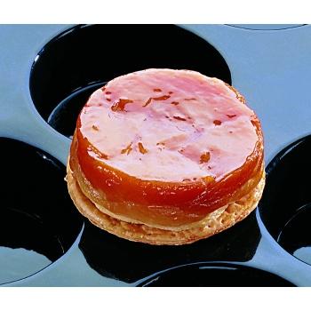 "Sasa Demarle Flexipan - Cylinders Mini Cheesecakes - Ø 4.12"" (105 mm) Depth 1.56"" (40 mm) - Vol. 10.31 oz - 18"" x 26"" - 12 ind"