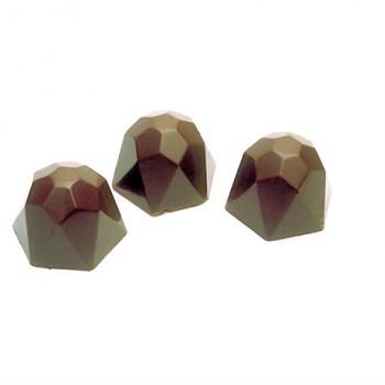 Polycarbonate Chocolate Mold Diamond - 28,5x28,5x18 mm - 3x8 pc - 10 gr - 275x135x24mm
