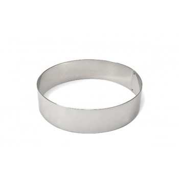 Stainless Steel Heavy Duty Round Cake Ring 8'' x 2''