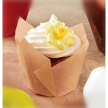 Mini Tulip Cupcake Liners Natural Color - 200pcs