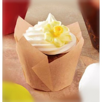 Mini Tulip Cupcake Liners Natural Color - 200pcs