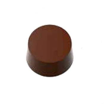 Magnetic Polycarbonate Chocolate Mold Round Flat Cylinder - 30 x 30 x 15.5 0 mm - 3 x 6 Cavity - 12 gr - 275x135x24 mm
