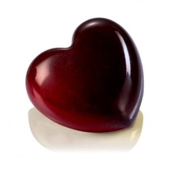 Polycarbonate Small Heart Snack Chocolate Mold - 12pcs - 28gr - 45x42x16 mm