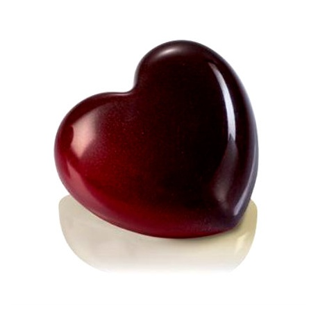 Polycarbonate Chocolate Heart Diamond Gems Mold - 33x33x15mm - 10gr - 24 pcs