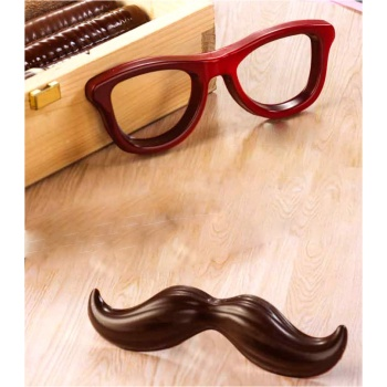 Thermoformed Mr Chocolate Glasses and Mustache Chocolate Mold - 2pcs