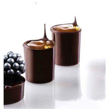 Polycarbonate Minichocofill Chocolate Cylinder Cups Mold - 28 Cavity - 6 gr - Ø27 h31 mm